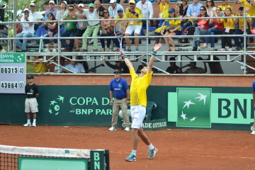 SANTI GIVES COLOMBIA THE FIRST POINT IN DAVIS CUP