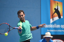 Colombia's Santiago Giraldo plays a forehand return during his men's singles match against Donald Young of the US on day two of the 2016 Australian Open tennis tournament in Melbourne on January 19, 2016. AFP PHOTO / PETER PARKS-- IMAGE RESTRICTED TO EDITORIAL USE - STRICTLY NO COMMERCIAL USE / AFP / PETER PARKS (Photo credit should read PETER PARKS/AFP/Getty Images)