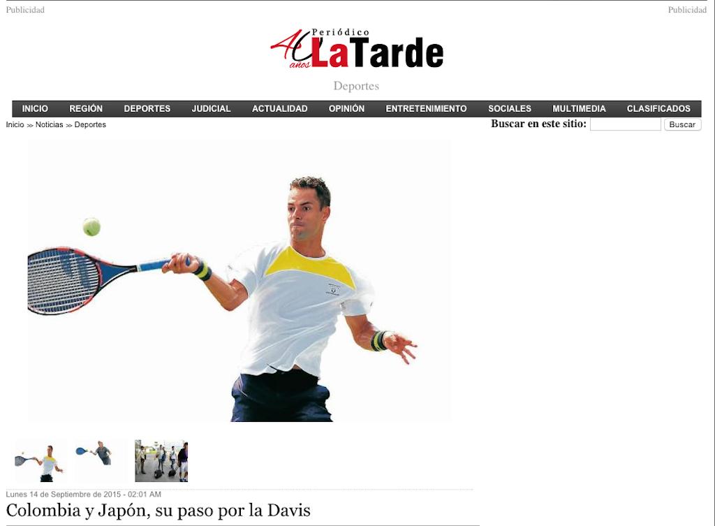 santi giraldo, colombia, copa davis, la tarde, tenis colombiano